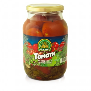 Сanned tomatoes twist-off 1L