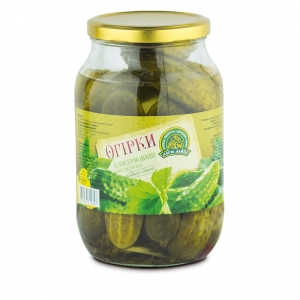 Canned cucumbers 'Dnistrovski' twist-off 1L